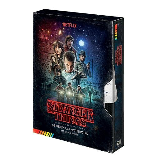 Stranger Things Poster Season 1 A5 VHS Premium Notebook Note Pad